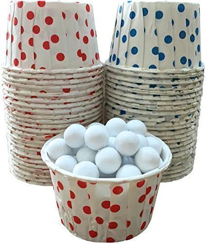 Outside the Box Papers Polka Dot Candy Nut Cups 48 Pack Red, White, Blue