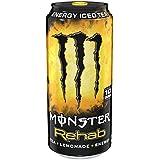 Monster Rehab, Tea + Lemonade + Energy, 15.5 Ounce (Pack of 24)