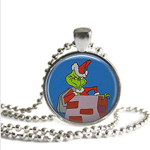 the-grinch-who-stole-christmas-necklace-the-grinch-as-santa-in-the-chimney-silver-plated-picture-pen