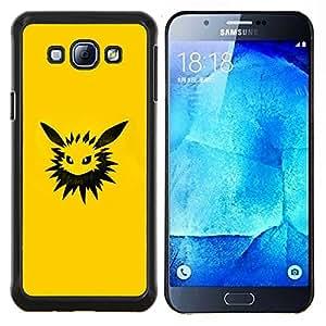 Meter Monster Amarillo- Metal de aluminio y de plástico duro Caja del teléfono - Negro - Samsung Galaxy A8 / SM-A800
