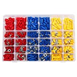 Elite.M 480pcs Wire Terminals Crimp Connectors Electrical Terminals Kit Automotive Wire Connector Set in Red Blue Yellow