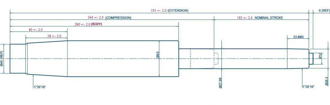 BiMi Muelle de Gas Recto para Silla de Oficina, 28 cm, Color Negro: Amazon.es: Hogar