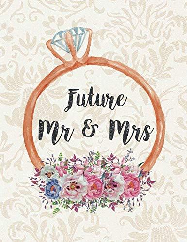 Future Mr & Mrs: Wedding Planner Organizer Checklist Journal Notebook for Newly Engaged Couple Cream