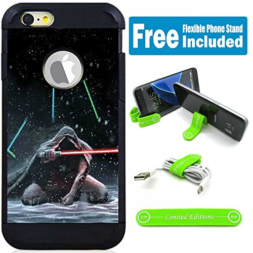 Apple iPod Touch 5/6 5th/6th Generation Hybrid Armor Defender Case Cover with Flexible Phone Stand - Star Wars Kneel Down (Star Wars Ipod Touch Case)