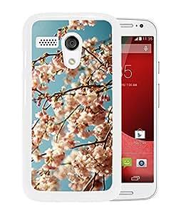 Unique DIY Designed Cover Case For Motorola Moto G With Pink Blossoms Flower Mobile Wallpaper (2) Phone Case