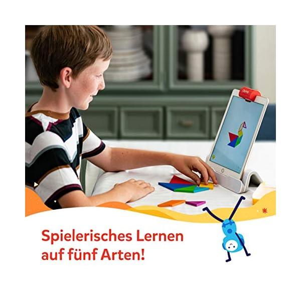 OSMO 901-00041 Genius Starter Kit (Versione tedesca) – Include 5 diversi mondi di apprendimento per bambini da 6 a 10 anni di base e riflettore inclusi 4 spesavip