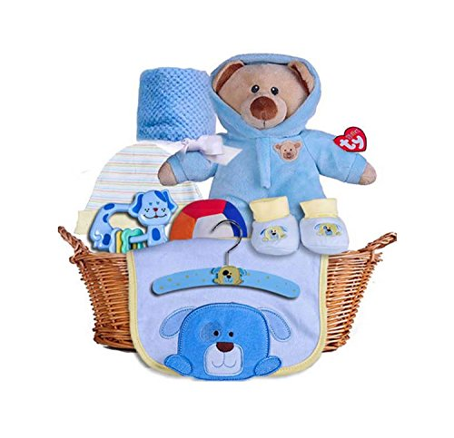 Newborn Teddy Baby Basket
