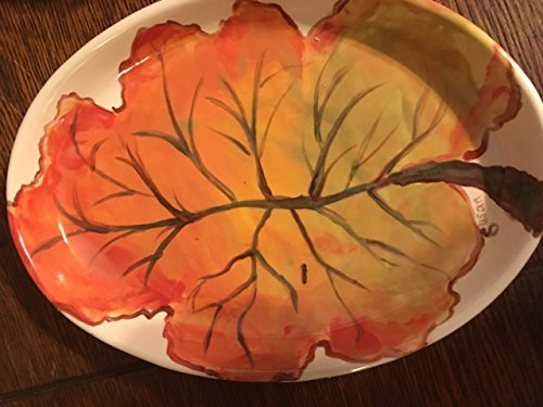 USA handmade small fall leaf platter