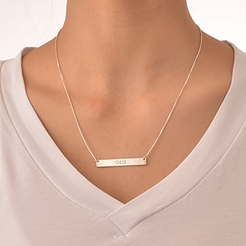 Graduation Jewelry - Bar Necklace - Personalized Name Necklace Nameplate - Jewelry Gift for her