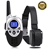Cheap Dog Training Collar with Remote DTC115 – Long Range 1100 Yard 8 Level Shock Vibrate Beep 3 in 1 Mode Rechargeable Water Resistant Electric Collar for Medium Large Dogs-Bonus Training Ebook