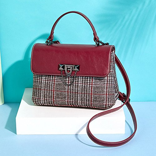Bag Red 17Cm Summer Shoulder Shoulder Small 11 wine Single Square amp;QIUMEI With Bag Bag 24 Spring OME 6RvWIZfI