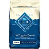 BLUE Life Protection Formula Senior Chicken and Brown Rice  Dry Dog Food 30-lb