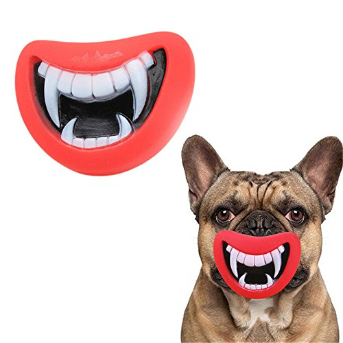 Molar Costumes (Zeroyoyo Funny Pet Dog Puppy Sound Vinyl Squeaky Halloween Zombie Teeth Costume Prop Squeaker Play Chew Fetch Toys)