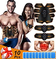 Abs Trainer Muscle Stimulator EMS Abdominal Abs Toner Belt Abdomen Muscle Trainer Fitness with 6 modes 10 intensities¡