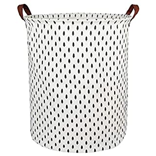 BOOHIT Storage Baskets,Canvas Fabric Laundry Hamper-Collapsible Storage Bin with Handles,Toy Organizer Bin for Kid's Room,Office,Nursery Hamper, Home Decor (Tree)