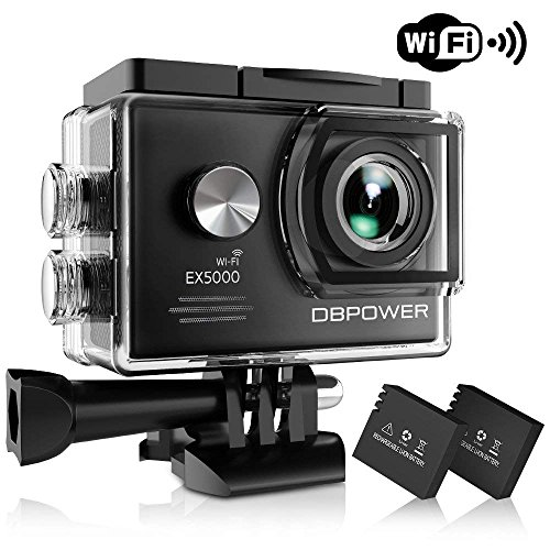 DBPOWER EX5000 Action Camera , 14MP 1080P HD WiFi Waterproof Sports Cam 2 Inch LCD Screen , 170 Degree Wide Angle Lens , 98ft Underwater DV Camcorder With 16 Accessories Kits (A-Action camera) DBPOWER
