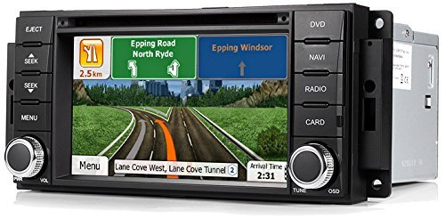 Astrium GEE-3012-NS71 2007-2017 Jeep Wrangler In-dash GPS Navigation Stereo FM AM Radio Bluetooth Head Unit Touch Screen AV Receiver DVD CD USB SD Player OEM Fit Deck w/ NNG iGo Primo HERE Maps