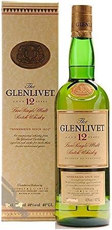THE GLENLIVET PURE SCOTCH MALT SCOTCH WHISKY AGUARDIENTE 12 AÑOS 70 CL GEORGE SMITH'S