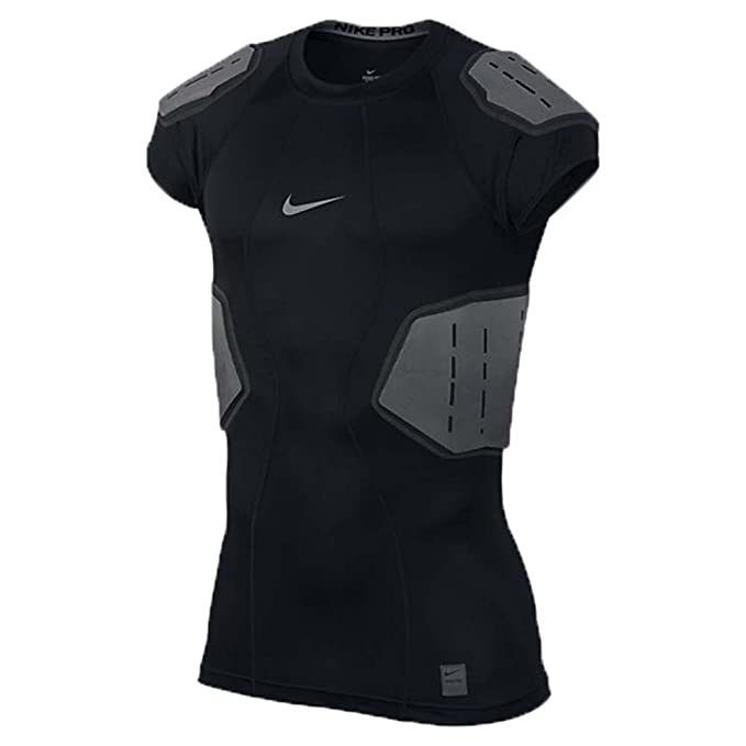 7ba3991cf392 Men s Nike Pro Hyperstrong Football Top Black Anthracite Dark Grey Flint  Grey Size