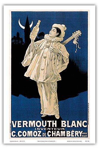 (Pacifica Island Art - Vermouth Blanc Comoz de Chambéry - Vintage Advertising Poster c.1890's - Master Art Print - 12in x)