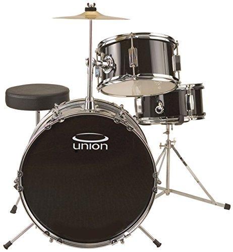 Union UJ3 3-piece Junior Drum Set - Black by Union
