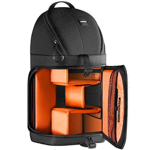 Zoom Sling Pack (Neewer Professional Camera Case Sling Backpack for Nikon Canon Sony and Other DSLR Cameras and Lens,Tripod,Other Accessories,Durable Waterproof and Tear Proof Bag with Padded Dividers(Orange Interior))