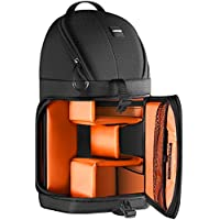 Neewer Professional Camera Case Sling Backpack for Nikon Canon Sony and Other DSLR Cameras and Lens,Tripod,Other Accessories,Durable Waterproof and Tear Proof Bag with Padded Dividers(Orange Interior)