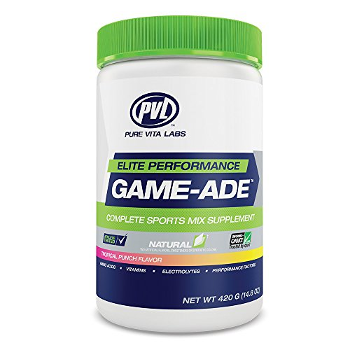 PVL Game Ade - Clean Performance Product To Enhance Mental Focus And Physical Output - Tropical Punch Flavor by PVL