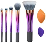 Real Techniques-Illuminate and Accentuate Set-Limited Edition Makeup Brush and Sponge Set-For Blush, Shadow, Foundation, and Correction