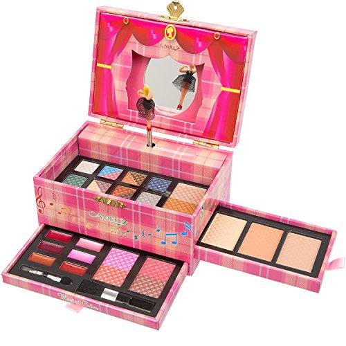 Jumbl ™ Carry Toutes les couleurs de musique maquillage Kit - Inclus 12 Fards à paupières 3 Poudres de sourcils une Shimmer Poudre pour le visage trois poudres pour le visage 2 Fards à joues lèvres 6 couleurs et applicateurs -Jumbl ™ brosse et miroir incl