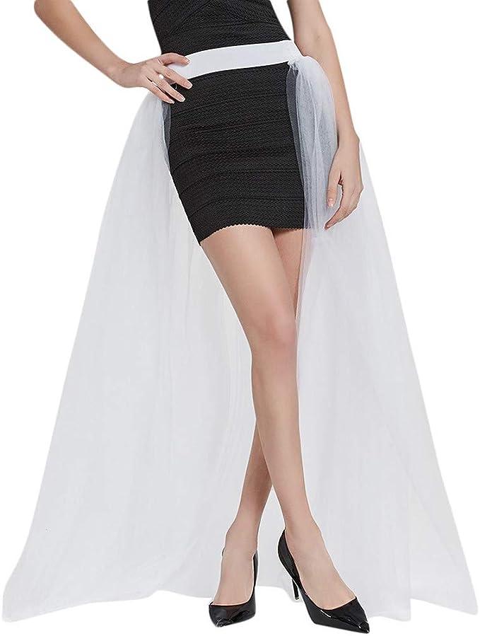 beautyjourney Falda Elegante de Tul de tutú de Dama de Honor de ...