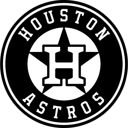 NBFU DECALS MLB Houston Astros Logo (Black) (Set of 2) Premium Waterproof Vinyl Decal Stickers for Laptop Phone Accessory Helmet CAR Window Bumper Mug Tuber Cup Door Wall Decoration
