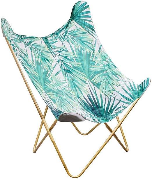 W 74 x D 79 x H 101 cm BIRDY Butterfly Armchair Jungle Print Fabric