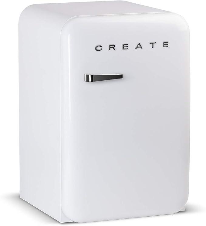 IKOHS Retro Fridge - Frigorífico con diseño, Control de Temperatura Ajustable, Estantes Intercambiables, Estética Vintage de los años 50, Clase ...