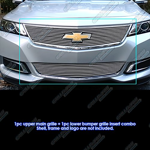Fits 2014-2018 Chevy Impala with Logo Show Billet Grille Combo #C61245A Chevy Impala Billet Grille