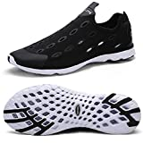 Zhuanglin Women's Quick Drying Aqua Water Shoes Casual Walking Shoes Size 7 B(M) US Black