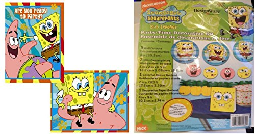 (SpongeBob SquarePants Party Supplies, Table Decorations, Invitations and Thank You Cards (Serves 8)