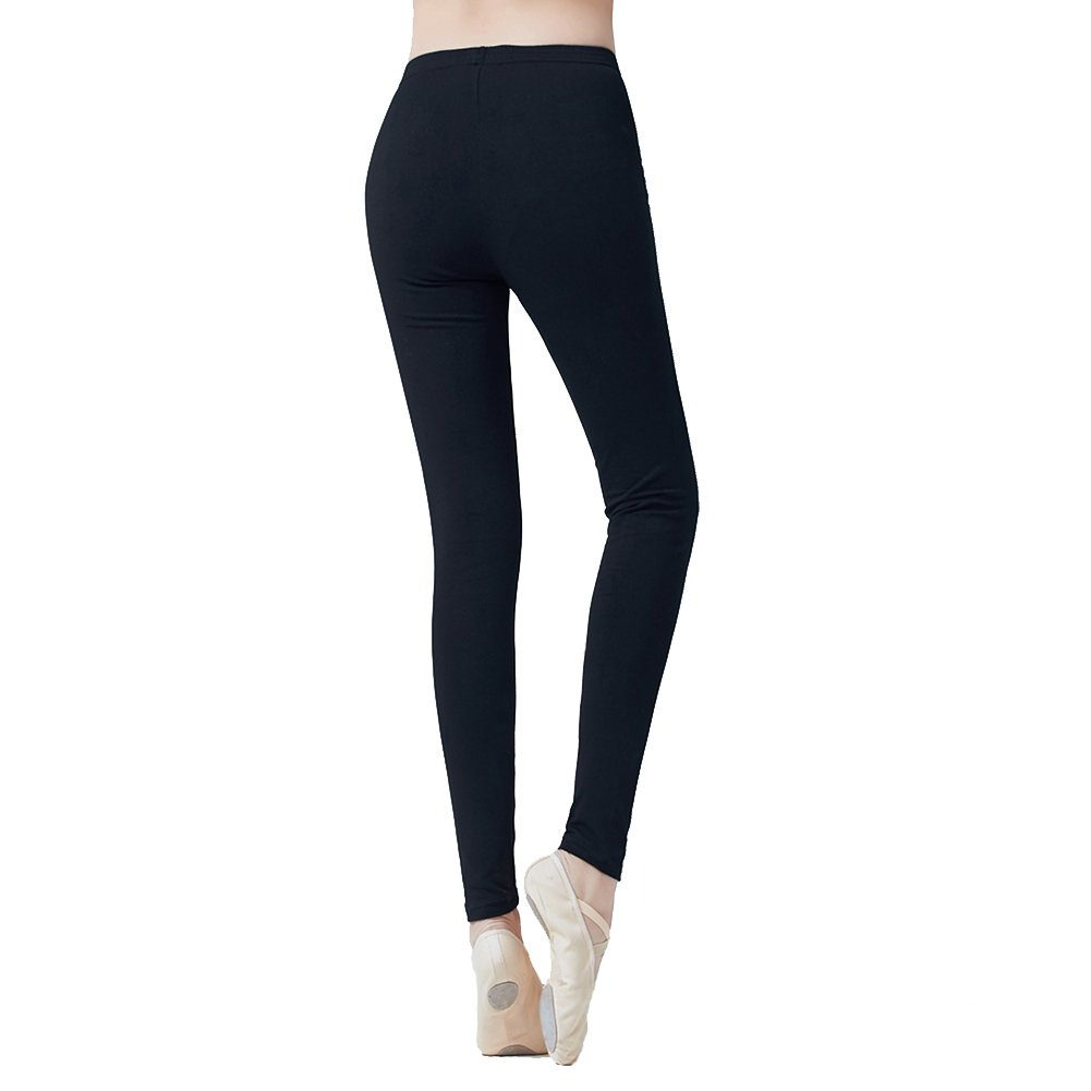 DANCE YOU Ballet Leggings Women, Cotton Dance Gym Yoga Workout Legging Pants, Size M