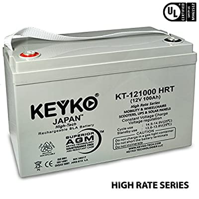 Trojan SCS150 12V 100Ah SLA Sealed Lead Acid AGM Rechargeable Replacement Battery Genuine KEYKO ® (W/T3 Terminal)