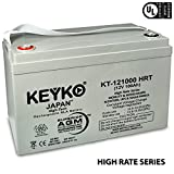 Goal Zero Yeti 1250 Solar Generator 12V 100Ah Real 100 Amp AGM / SLA Deep Cycle Battery for Solar Winds Inverters Generators Genuine KEYKO - IT Terminal - T3