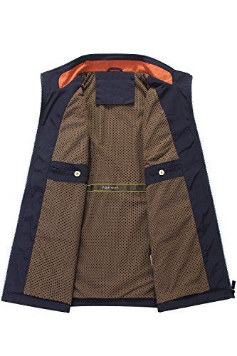Mr.Stream Men's Quick Drying Outdoor Sports Gilet Lightweight Mountain Fishing Active Sleeveless Vest 3XL Blue by Mr.Stream (Image #5)