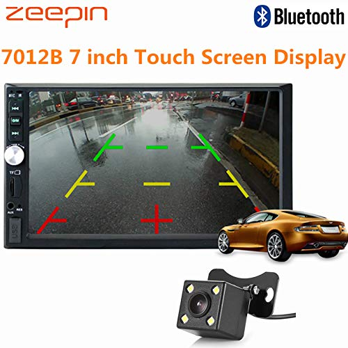 Tomynaanel - Zeepin 7 inch Touch Screen MP5 Player Display Supports Bluetooth Hands-free Call Function Car Audio Video Multimedia Player ()