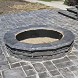 Natural Concrete Products Outdoor Firepit - Natural Stone Look, Random Gray, Model# RSFPG