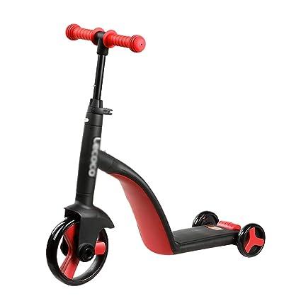 Patinetes clásicos Scooter de patineta Ajustable de 3 Ruedas, Scooter Convertible 3 en 1 para