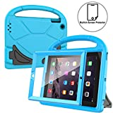 AVAWO Kids Case Built-in Screen Protector for iPad 2 3 4 - Shockproof Handle Stand Kids Friendly Compatible with iPad 2nd 3rd 4th Generation (Blue)