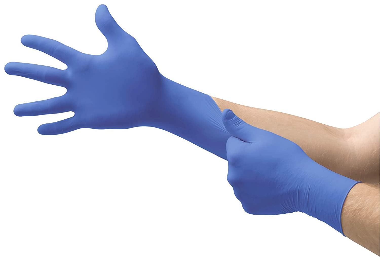 Bleu Gant Non Poudr/é Bo/îte de 200/unit/és Ansell Micro-Touch Nitrile Gants d/'Examen pour Usage M/édical Taille/S Soins /à la Personne ou Tatouage