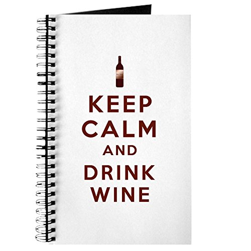 Wine Standard Monogram - CafePress - Keep Calm and Drink Wine Journal - Spiral Bound Journal Notebook, Personal Diary, Blank