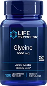 Life Extension Glycine 1000 mg, 100 Vegetarian Capsules
