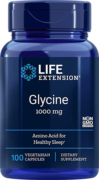 Life Extension Glycine 1000 mg, 100 Vegetarian Capsules