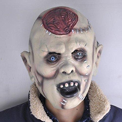 Halloween Masks Scary Headgear Bar Decorated Props Super Horror Mask Lantou Burst Brain BML Brand // Cerebro de Halloween máscaras de barras tocados miedo apoyos decoradas máscara de terror súper